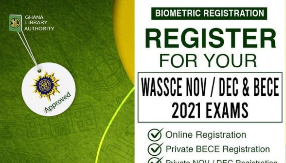 How To Register for WASSCE NOV / DEC And BECE 2021 EXAMS